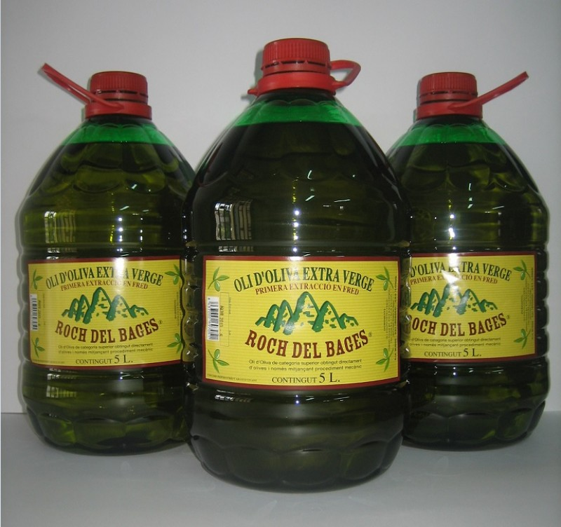 Caixa de 3 garrafes de 5 litres d'oli verge extra copatge