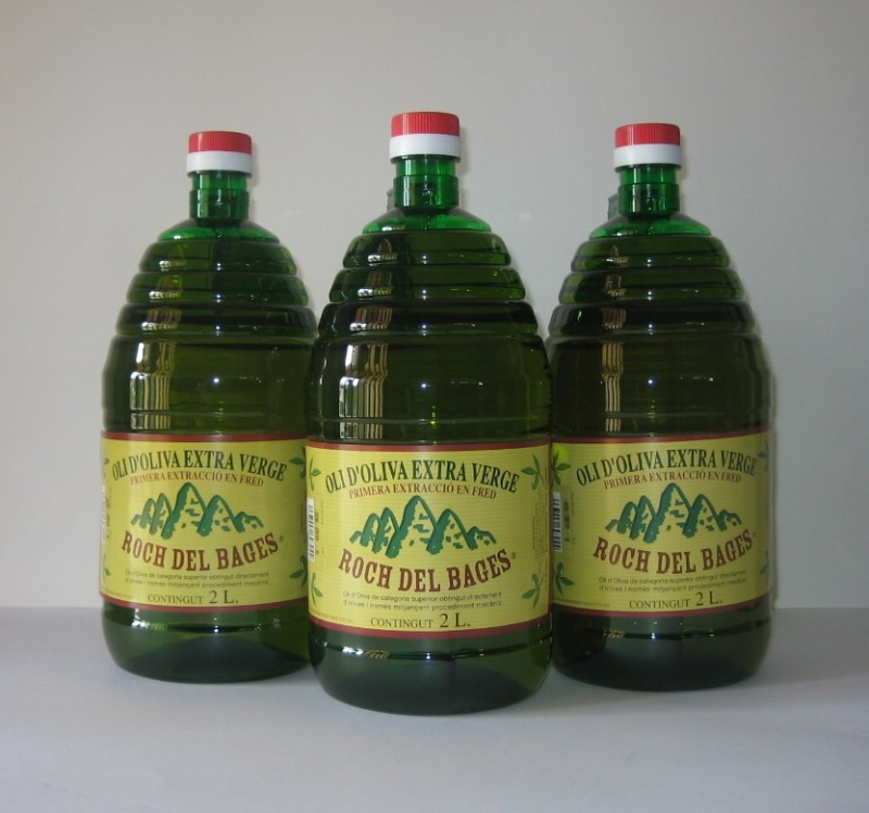 Caixa de 3 garrafes de 2 litres d'oli verge extra Copatge.