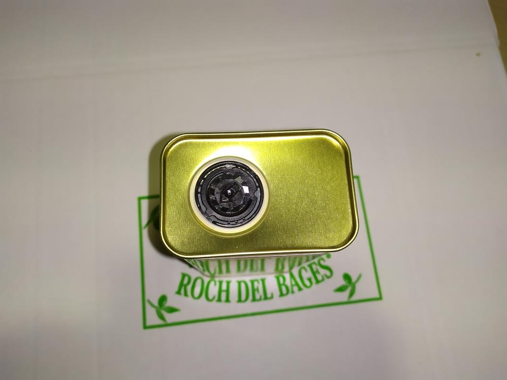 Caixa de 12 llaunes de 1/2 litre d'oli d'oliva verge extra arbequí collita 2019/2020