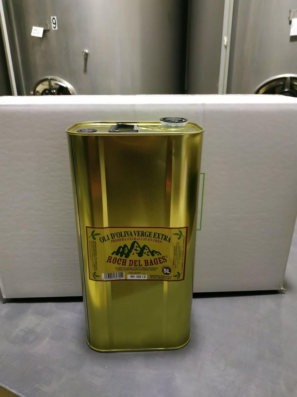Caixa de 4 llaunes de 5 litres d'oli verge extra copatge collita 2019/2020